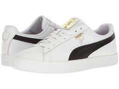 new style a9cfd be633 PUMA Clyde Core L Foil Men s Shoes White Black Gold. Zapatillas Puma ...