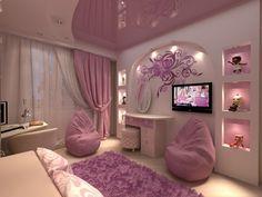 women bedroom interior design trends and wall decoration ideas 2019 Woman Bedroom, Girls Bedroom, Bedroom Decor, Bedroom Ideas, Room Decor For Teen Girls, Purple Interior, Girl Bedroom Designs, Design Bedroom, Dream Rooms