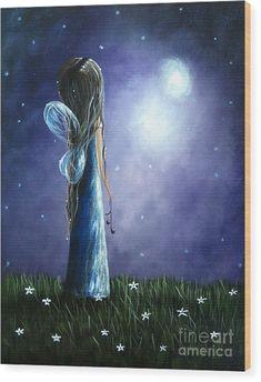 Heaven's Little Helper By Shawna Erback Wood Print by Artisan Parlour