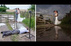 15 Photos That Show The Insane Things Wedding Photographers Will Do For A Good Shot