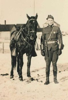 """After a lightning strike burned down the Michigan State Police horse stables at the East Lansing Post in June 1924, Public Safety Commissioner Henry Jackson seized the chance to terminate mounted patrols. Some were sent to the State Fair Grounds Post in Detroit, but most were sold off.  By the end of 1926, the department no longer kept or used any horses and the glory days of Michigan's """"mounted constabulary"""" passed into history."""