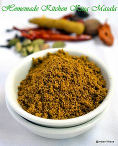 Kitchen King Masala is one of my favorite masala powder and it's used in many North Indian recipes . The flavorful kitchen king adds wo… - Kitchen King Masala is one of my favorite masala powder and it's used in many . Homemade Spice Blends, Homemade Spices, Homemade Seasonings, Spice Mixes, Masala Powder Recipe, Masala Recipe, Masala Spice, Garam Masala, North Indian Recipes