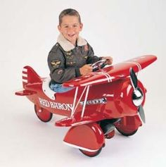Red Baron Pedal Bi-Plane for Kids from www.wellappointedhouse.com