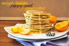 seed pancak, lemons, poppi seed, breakfast, meyer lemon, pancake recipes, lemon poppyse, healthi recip, lemon poppi