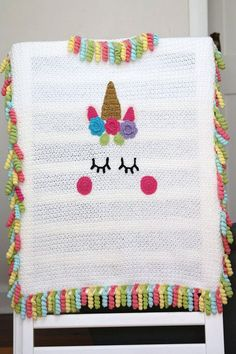 Etsy: Crochet Unicorn Blanket Pattern by Little Missy Designs. Basic Crochet Stitches, Crochet Hook Sizes, Crochet Blanket Patterns, Baby Patterns, Crochet Ideas, Crochet Blankets, Crochet Projects, Diy Projects, Crochet Unicorn Blanket