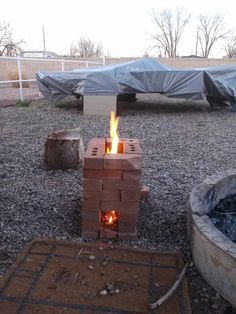 Home made Rocket Stove! 3/3/2014