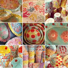 Folt Bolt - the colorful art palette | Niki Crosby - Happy Clay