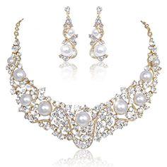 Ever Faith österreichischen Kristall Künstliche Perlen Welle Hochzeit Schmuck-Set Gold-Ton Ever Faith http://www.amazon.de/dp/B00OZJTU4O/ref=cm_sw_r_pi_dp_S3zUvb09Q5AFH