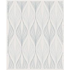 Optimum is an art deco inspired white and duck egg geometric wallpaper with…