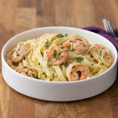 Shrimp Recipes, Pasta Recipes, Chicken Recipes, Cooking Recipes, Healthy Recipes, Shrimp Fettuccine, Fettuccine Noodles, Pasta Dishes, Food Dishes