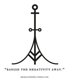 """mearalavender: """" """"Banish the negativity away."""" Sigil Sunday! May this sigil be in your favour. ♥ Feel free to use it, but please don't post it as your own. Thank you. """""""
