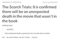 """They've already released that newt will call Thomas """"Tommy"""" in Scorch Trials and they've established that he has a limp, so there's a 90% chance they will be playing Newt's character arc exactly as it is in the books. I'm betting it's Jorge."""
