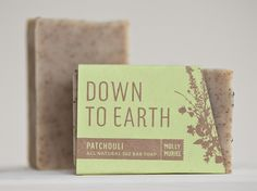 Down To Earth (Patchouli) handmade soap by Molly Muriel #natural #vegan