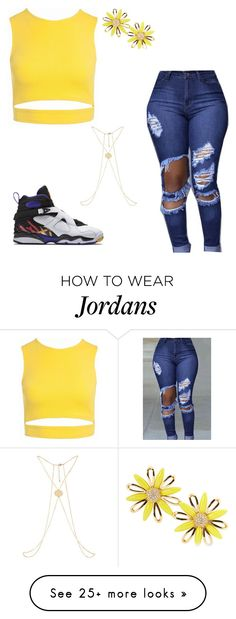 """""""Highlighter yellow"""" by sweet-brownsuga on Polyvore featuring Sans Souci, NIKE and Kate Spade"""