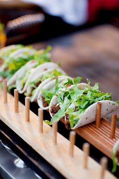 self-serve taco bar, it allows guests to have fun assembling their tacos, and you to enjoy the party.