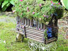 Fairy caravan. Fairy house fairy garden woodland by TinkerWhims