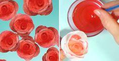 Gör vackra och hållbara rosor av kaffefilter