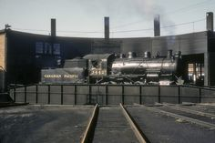 Old Train Pictures, Freight Transport, Canadian Pacific Railway, Rolling Stock, Repair Shop, Round House, Steam Locomotive, Model Trains, Abandoned Places