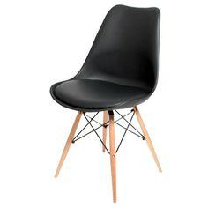 Moderner Esszimmerstuhl 79,95€ ♥ Hier kaufen: http://www.stylefruits.de/wohnen/esszimmerstuhl-furnlab/w4796036 #Stuhl #Esszimmer #Schwarz #furnlab #Design