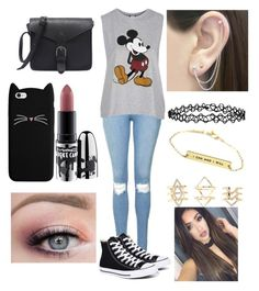 """""""Untitled #149"""" by skohler0960 on Polyvore featuring Topshop, Converse, MAC Cosmetics, Otis Jaxon, Accessorize and Charlotte Russe"""