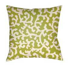 Highland Dunes This Pillow collection embodies vibrant colors that will add a casual yet classy look to any outdoor space. Size: H x W, Color: Lime Green/Ivory Throw Cushions, Outdoor Throw Pillows, Throw Pillow Covers, Bed Pillows, Bed Sofa, Bed Linens, Indoor Outdoor, Abstract, Vibrant Colors