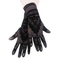 Henna Moon gloves - Gothic Metal Alternative Restyle <3 djobido
