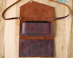 brown leather womens wallet leather shoulder strap clutch