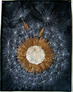 Art quilt fiber art wall hanging Make a Wish by marytequilts