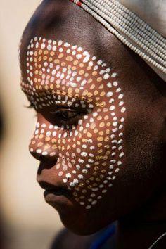 femmes, Afrique maquillage,