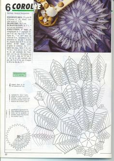 Photo from album Mailles № 216 on Yandex.Disk - Uncinetto - Motivi Per Uncinetto Crochet Books, Crochet Art, Crochet Home, Thread Crochet, Crochet Crafts, Crochet Stitches, Crochet Projects, Free Crochet Doily Patterns, Crochet Doily Diagram
