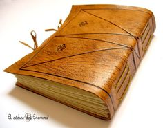 Handmade mini photo album, scrapbook. Leather. Memorialis. Ready to ship.. €31.00, via Etsy.
