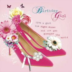 We couldn't agree more! Vintage and very girly #Birthday card from our Birdsong range.