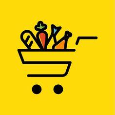 af) first online grocery store in Afghanistan. Online Art Store, Online Grocery Store, Online Fashion Stores, Supermarket Logo, Supermarket Design, Cart Logo, Logo Sketches, Branding Design, Logo Design