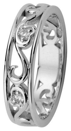 Kohinoor Laurel valkokultainen timanttisormus 033-250-03 - Timanttisormukset Kohinoor - 033-250V-03-155 - 1