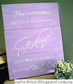 1000 images about little girl signs on pinterest for Signs for little girl rooms
