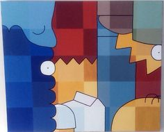 Sue's Abstract Simpsons Art by sn0w3d1n, via Flickr