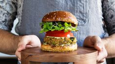 Watch and learn how to make the ultimate veggie burger.