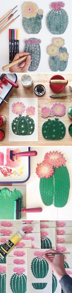 Cactus Printing by Lili Arnold / On the Blog!