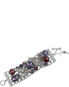ICONIC AMETHYST GEM TOGGLE BRACELET PURPLE accessories jewelry bracelets fashion