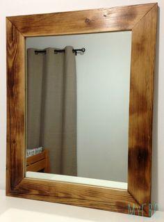 Handmade pine barn wood frame with mirror #barnwood #handcrafted #mirror #decor #gifts #MyCRO #WM