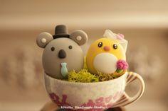https://flic.kr/p/zVkbqb | koala and penguin wedding cake topper | www.etsy.com/listing/250501294/koala-and-penguin-wedding-...