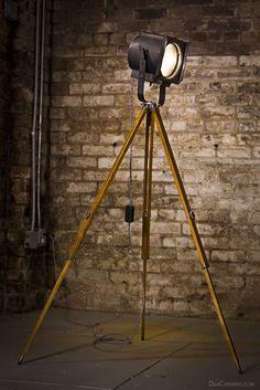 Vintage Theater Stage Light - Floor Lamp