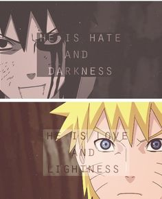 They're complete opposite and yet, they're best friends. Yin and Yang, right? #naruto #sasuke