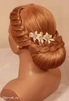 lace braids and stuffed bun