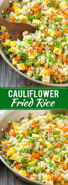 Cauliflower Fried Rice Cauliflower Rice Low Carb Rice Cauliflower Rice Recipe Cauliflower Recipes recipe chinese Curry Powder Recipes - Indian Curries and Garam Masala - Steps to Making Different Types of Curries Healthy Side Dishes, Vegetable Dishes, Side Dish Recipes, Vegetable Recipes, Vegetarian Recipes, Cooking Recipes, Califlour Recipes, Crockpot Recipes For Two, Zone Recipes