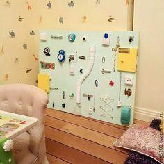 Развивающие игрушки ручной работы. Ярмарка Мастеров - ручная работа. Купить БИЗИБОРД /  Доска с замочками для детей. Handmade. Бизиборд