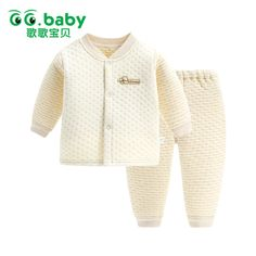 a7226638e Newborn Baby Autumn Winter Warm Underclothes Set Cartoon Embroidered ...