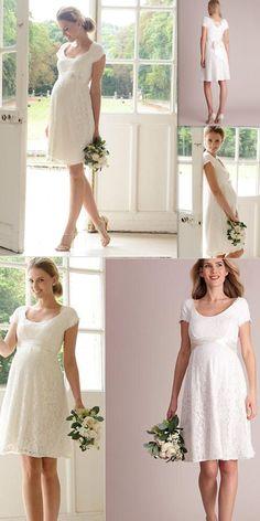 7dd1e617af0e1 42 Best Plus Size Maternity Wedding Dresses / Pregnancy Attire ...