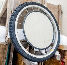 Creative -Methods -Of -Reusing- Wheels -In -Your -Design-homesthetics Bicycle Spokes, Bike Wheel, Reuse Old Tires, Reuse Recycle, Upcycle, Bike Craft, Recycling, Barbershop Design, Tire Chairs