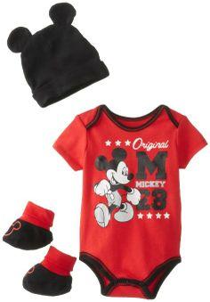 Amazon.com: Disney Baby Baby-Boys Newborn Disney's Mickey Mouse 3 Piece Gift Box, Red, 0-6 Months: Clothing $8.99